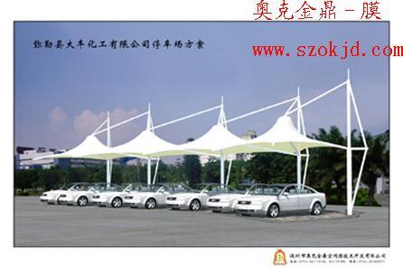 单位停车棚 张拉膜结构 学校单车 棚 张拉膜结构