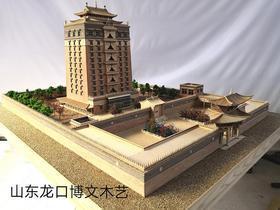 博物馆木质沙盘模型定制加工设计,古建筑模型微缩袖珍工艺品模型