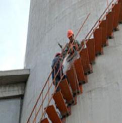 烟囱安装平台-烟囱安装转梯