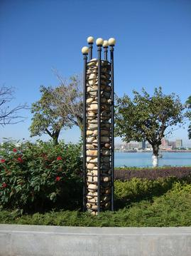 鹅卵石柱子/新型柱子 gcs186