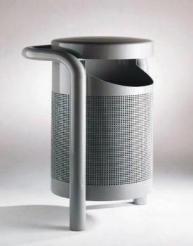 此垃圾桶面料为优质不锈钢冲孔钢板及钢管;或