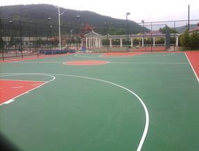 供应优质4mm厚硅PU篮球场面层