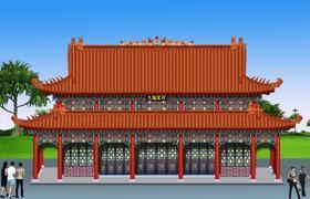 寺庙设计图、寺院规划图、寺庙建筑设计图