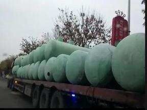 50立方生活污水处理设备手糊玻璃钢化粪池