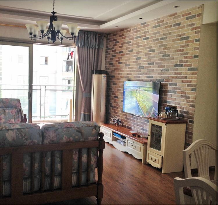青山文化石 地中海风格 电视背景墙砖文化砖 室内客