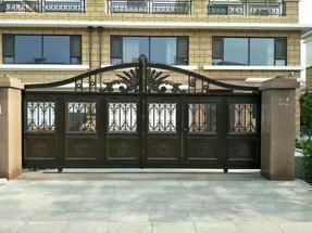 武陵红铝艺电动院子门,庭院门,围栏,护栏