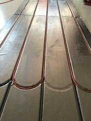 京赢碳晶碳纤维铝板导热电地暖模块干式铝板电地暖模块碳晶超导热