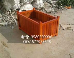 天台木质种植树箱、公园花箱