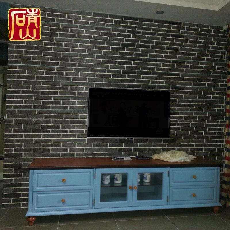 人造文化石青砖电视背景墙家居装修9085