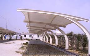 钢结构车棚健康钢结构彩钢板车棚