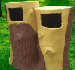 水泥仿木垃圾桶水泥果皮箱河北仿树桩垃圾箱水泥垃圾桶景区垃圾桶