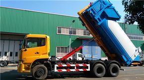 25吨拉臂式垃圾车、勾臂式垃圾车、天龙垃圾转运车