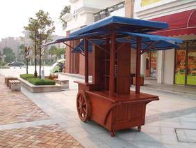 郑州实木售货车 兰州木质售货车 苏州广场售货车