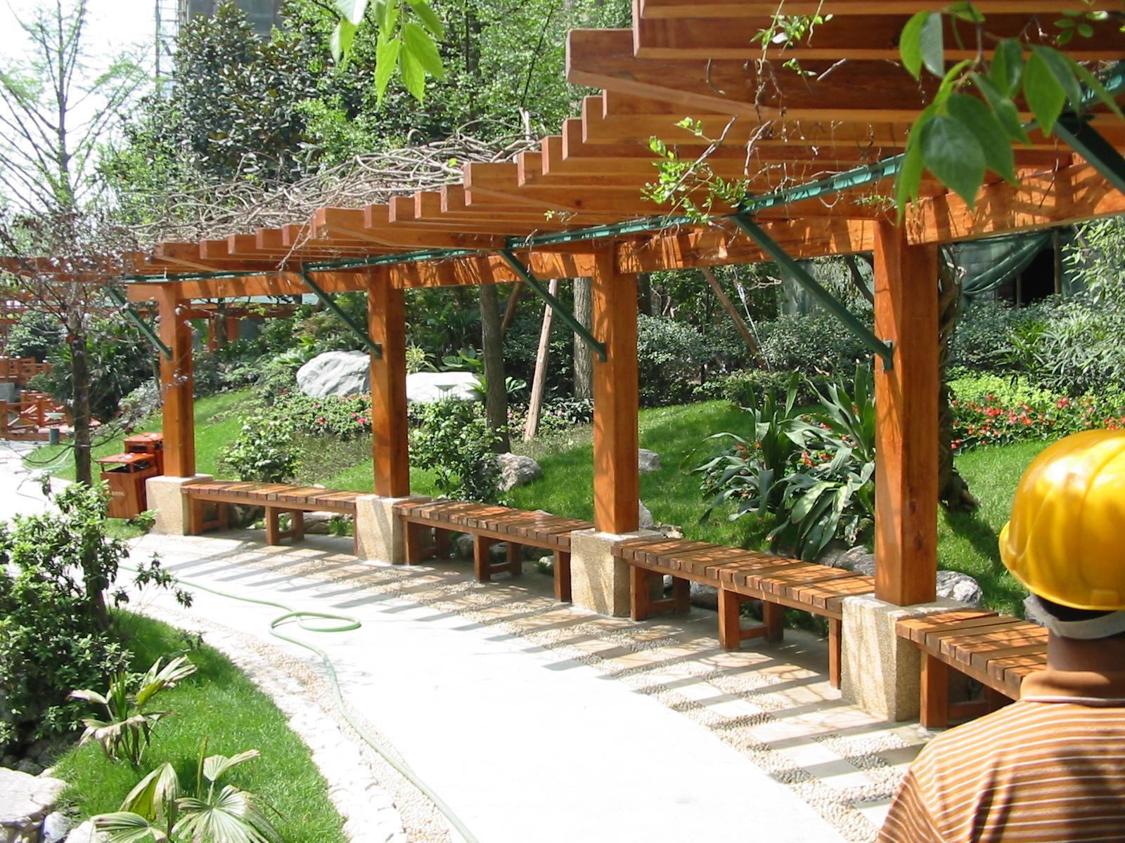 传统木工手艺,葡萄架/花架/围栏/亲水平台等各种户外木