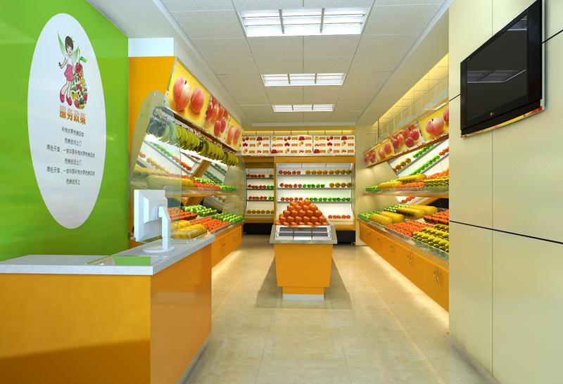 有创意的郑州水果店面装修设计攻略