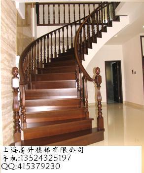 弧形实木楼梯_co土木在线
