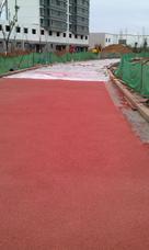 恒森露骨料透水混凝土宁夏景观防滑地坪铺装