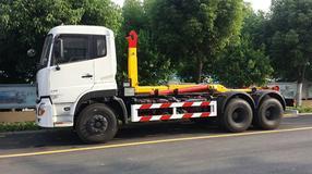 16吨东风天锦勾臂式垃圾车已完美发车