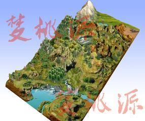 生态园模型、地型图