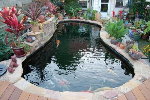别墅庭院鱼池_别墅室内鱼池建造庭院鱼池设计风水设计_CO土木在线
