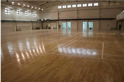 室内木地板篮球场,防震双龙骨的海速木地板
