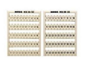 正品行货WAGO万可280端子用标记号209-566(数字排序为2个1..50)
