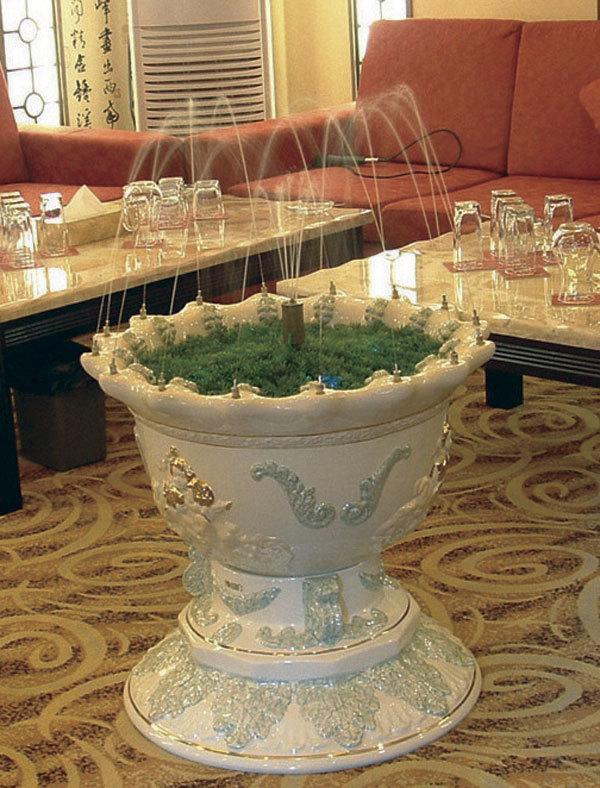 供应室内陶瓷喷泉/欧式天使喷泉;