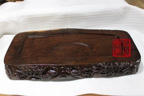 黑檀边雕茶盘BD-0013