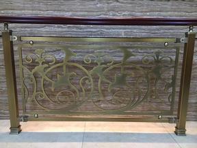铜铝雕刻楼梯护栏09
