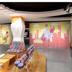 家居客厅沙发电视背景墙3D立体壁画