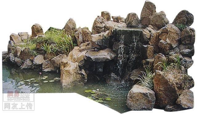 石头景观小品手绘