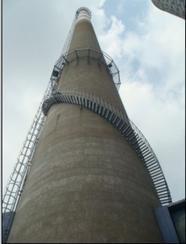 四平烟囱安装旋转梯|烟囱折梯安装|烟囱安装检测平台