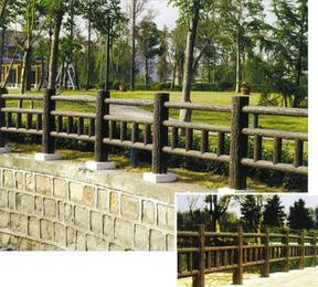 围栏,仿木围栏