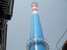烟囱刷色环专业施工烟囱标志制作(江苏三里港高空)