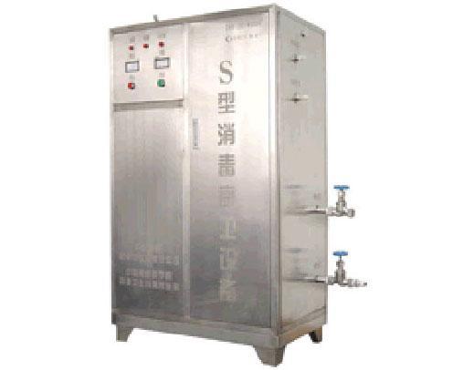 在特殊结构的发生器内产生臭氧,在专门的气水混合器中使水充分雾化成