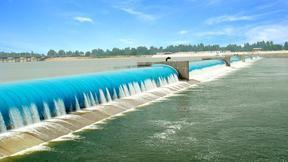 充水式橡胶坝