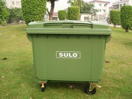 660升德国原装进口移动塑料垃圾桶