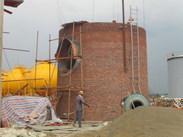 45米砖烟囱砌筑施工队
