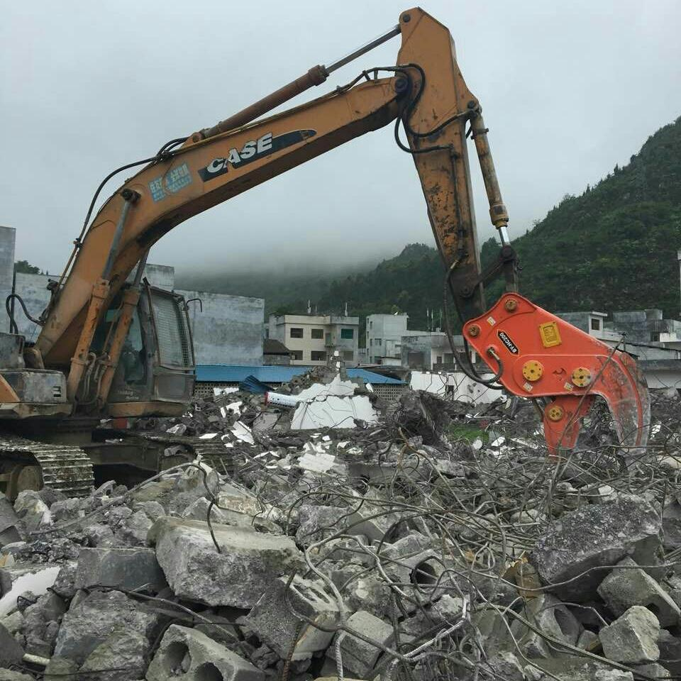 挖掘机粉碎钳-拆迁不伤挖机--北奕机械图片