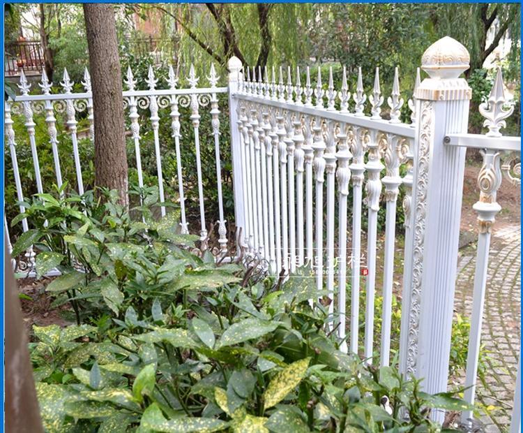 户外欧式白色铝合金别墅庭院栅栏定制无需维护
