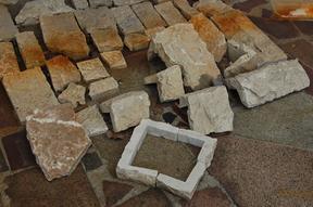 锈色石材拐角石