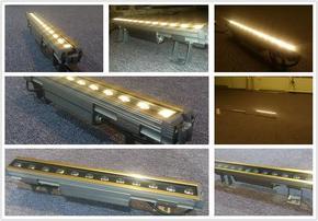 LED洗墙灯12W外置电源线条灯LED24W楼层亮化照明效果图