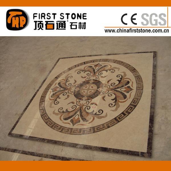 混合大理石正方形水刀拼花jd119