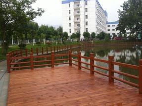 四川成都驰升风貌改造水泥仿木栏杆