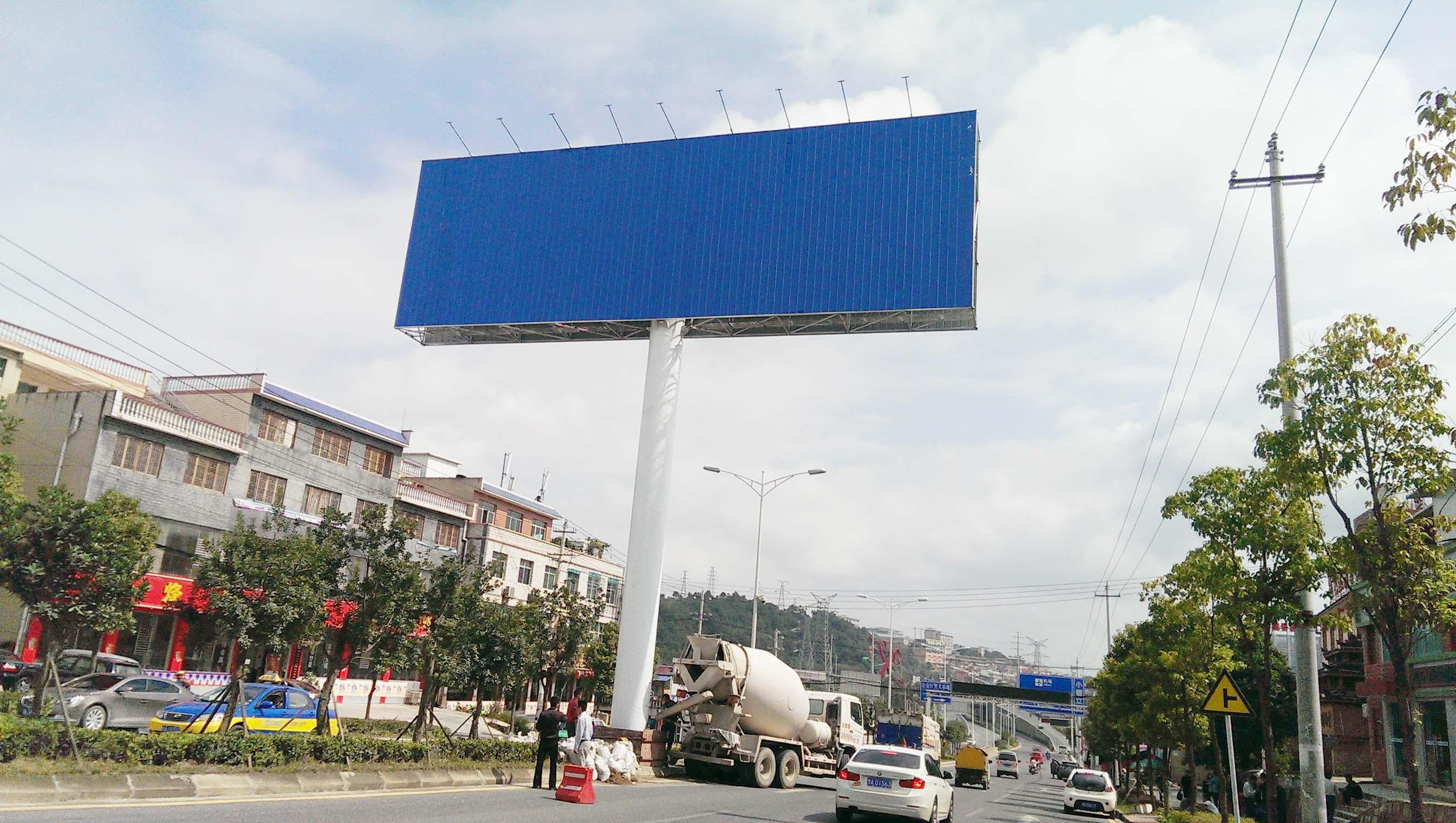 单立柱广告牌设计图纸
