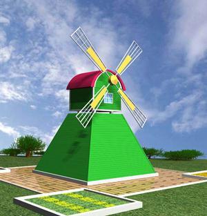 景观风车_景观风车制作