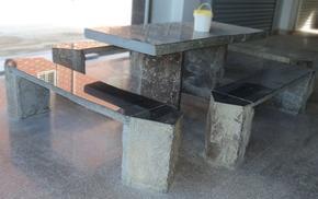 六方石桌椅GCF488