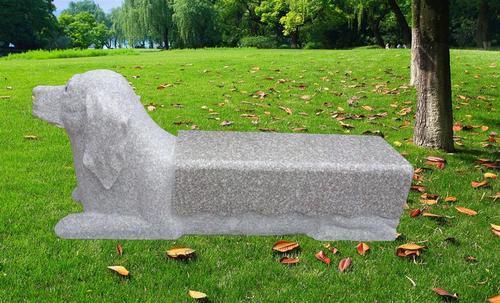 花岗岩动物雕刻长凳 gcf480