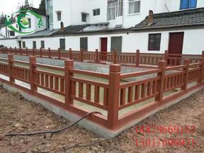 水泥仿木护栏-园林景区护栏