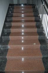 红色+黑色花岗岩室内楼梯板GCPR871